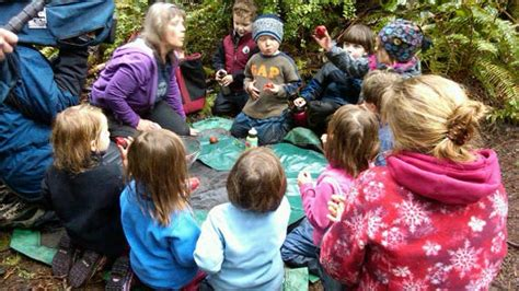 outdoor preschool shows side of learning abc news 558 | abc forest kids jef 110329 wmain