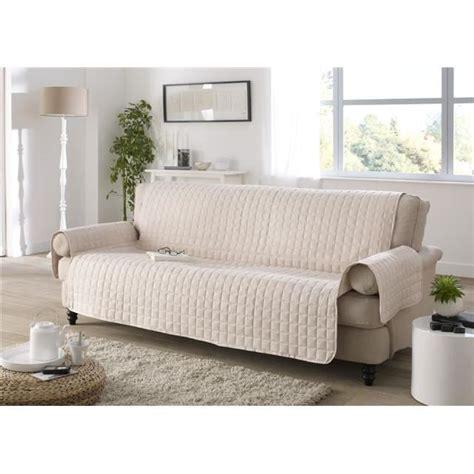 housse de canape 3 places et fauteuils protege canape 3 places ivoire achat vente housse de canape cdiscount