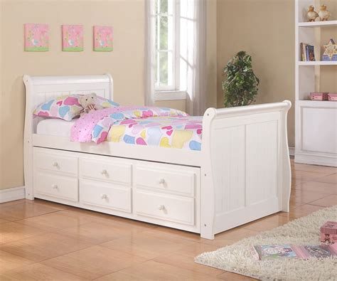 rooms to go daybed with storage sleigh captains trundle bed white bedroom furniture