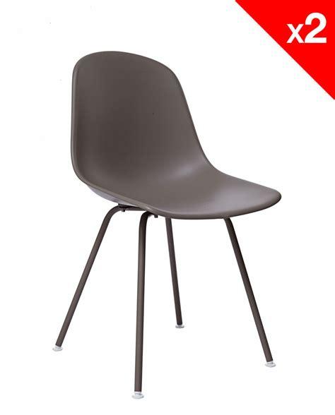 chaises metal lot de 2 chaises design dsx piètement métal supa