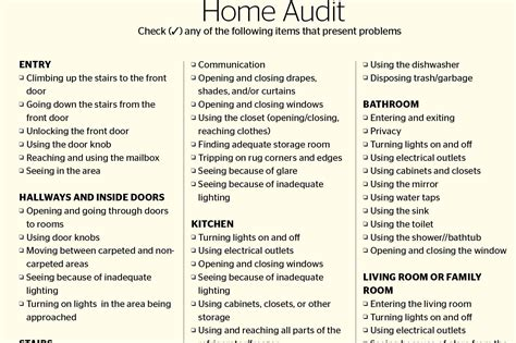 home design checklist problem solver comprehensive universal design checklist