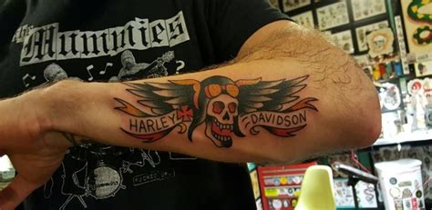 29 Harley Davidson Tattoos With Individual Expression And