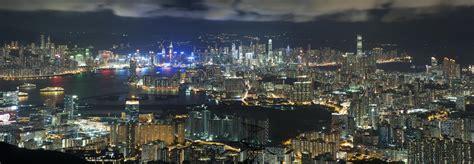 hong kong night scene  christmas editorial photo image  famous financial