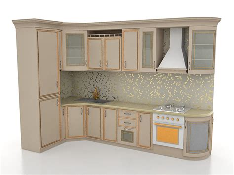 small  shaped kitchen designs  model ds max files