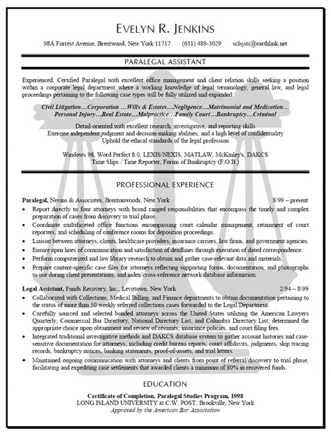 Bankruptcy Assistant Resume by Paralegal Resume