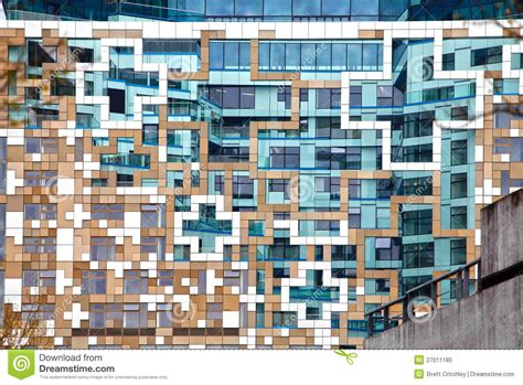 Modern Contemporary Architecture Facade Royalty Free Stock