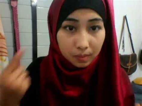 hijab tutorial bahan satin licin pashmina bahan satin