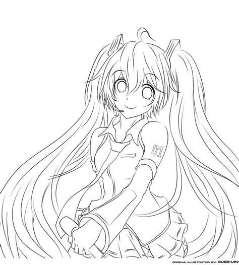 Anime Kleurplaat by Resultado De Imagem Para Hatsune Miku Para Colorir Anime