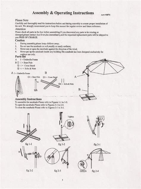 patio umbrella repair parts images