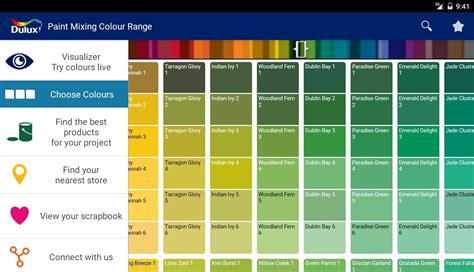 colour charts for interior painting best color chart for