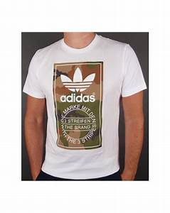Adidas Originals Camouflage Label T-shirt White