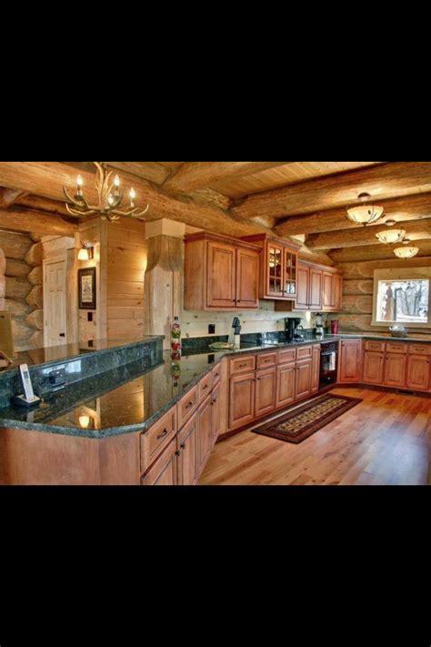 log cabin kitchen dream home log home kitchens home