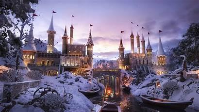 Castle 4k Snow Wallpapers Backgrounds Artwork Artist