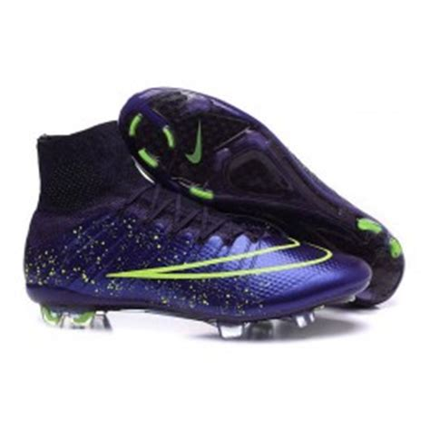 2015 nouvelle chaussure nike mercurial superfly iv fg cuir vert violet