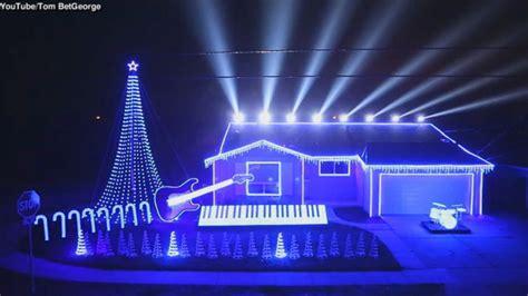 set christmas lights to music lights set to wars abc news