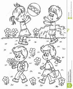 children playing outside coloring pages color bros With the colorplay