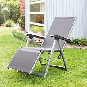 Fauteuil Relax Jardin : fauteuil relax basic plus kettler argent anthracite ~ Nature-et-papiers.com Idées de Décoration