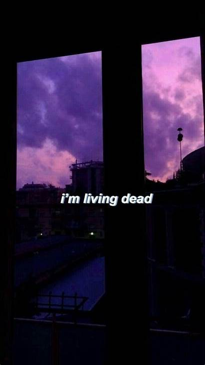 Aesthetic Purple Quotes Wallpapers Depression Depressed Backgrounds