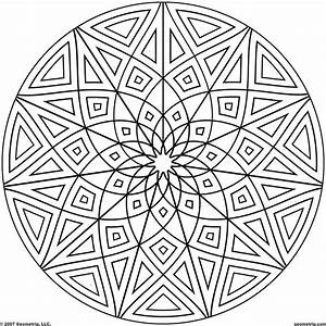 Kaleidoscope Coloring Pages | Geometrip.com - Free ...