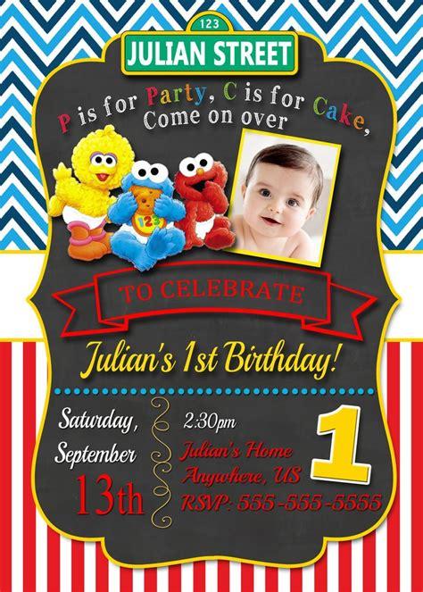 elmo birthday invitations ideas  pinterest
