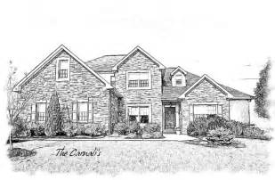 Pencil Drawing House Home