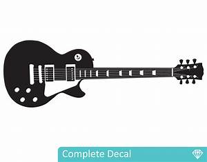 Les paul guitar your decal nz designer wall art
