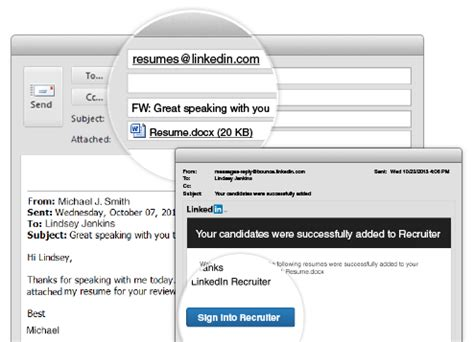 stay organized by adding resumes to recruiter profiles