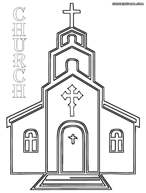 church coloring pages coloring pages    print