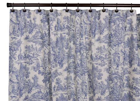 toile drapes park toile bathroom shower curtain blue designs
