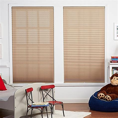 bed bath and beyond l shades baby blinds cordless pleat shade in macadamia bed bath