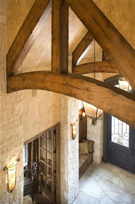 exposed wooden beams entry exposed beam dream houses pinterest entry ways natural stones and vaulted ceilings