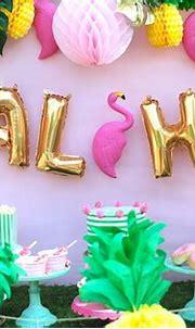 Let's Flamingle  Luau Party Ideas - Shindigz - LAURA'S ...
