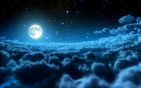 Moon And Clouds Wallpaper by Moon Clouds Sky Wallpaper Best Hd