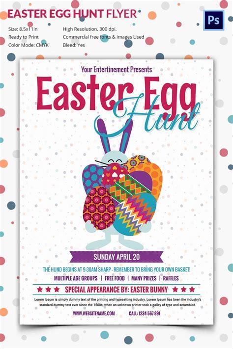impressive easter egg hunt flyer template  premium