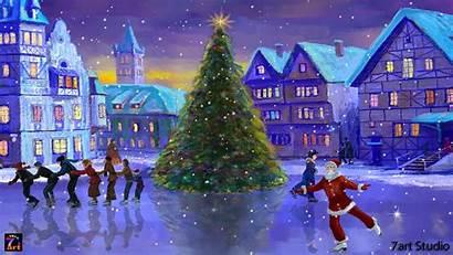 Christmas Screensaver Screensavers Rink Windows Animated Window
