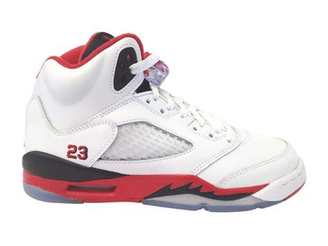 Air Jordan 5 V Retro Gs Fire Red Black Tongue 2013