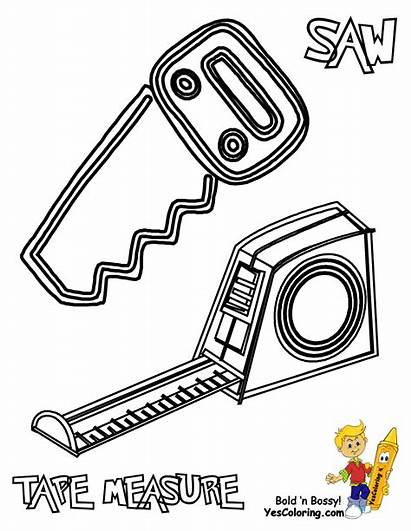Coloring Construction Pages Tools Boys Tough Tool