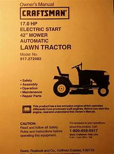Sears Lt1000 Craftsman 17  42 Riding Lawn Tractor Owner