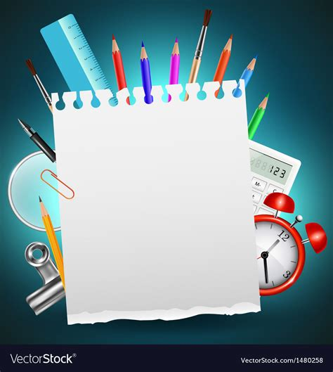 Back To School Backgrounds by Back To School Background Or Card Royalty Free Vector Image