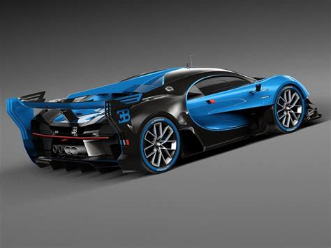 Bugatti Chiron Race Car 2017 3d Model
