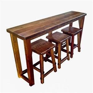 reclaimed barn wood breakfast bar set bar height With barnwood counter height table