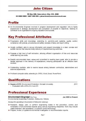 Effective Resumes Australia by Resume Structure Resume Format For Australia