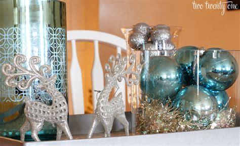 silver blue christmas centerpiece  twenty