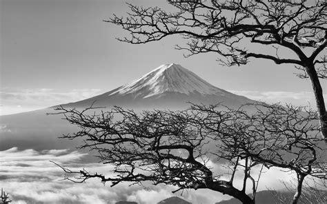 oa japan fuji maountain bw nature wallpaper