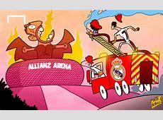 كاريكاتور جول مدريد جاهز لاخماد نيران البايرن Goalcom