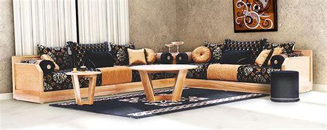 salon canapa noir daco bois salon marocain moderne lille