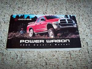2005 Dodge Ram 2500 Pickup Truck Owner Manual User Guide