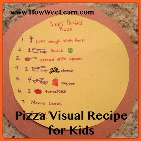 recipes for preschoolers to make recipes for pizza how wee learn 925