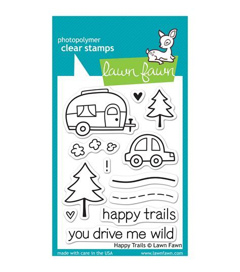"Lawn Fawn Clear Stamps 3""X4"" Happy Trails   Jo Ann"
