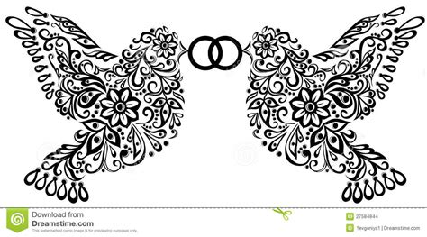 wedding clipart silhouette   birds stock images